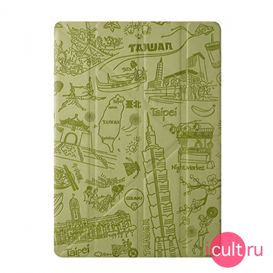 Чехол-книжка Ozaki O!coat Travel Taipei для iPad Air зеленый OC111TP