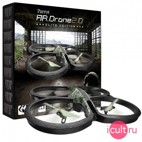 Wi Fi Квадрокоптер Parrot AR Drone 2.0 Elite Edition Jungle джунгли PF721822