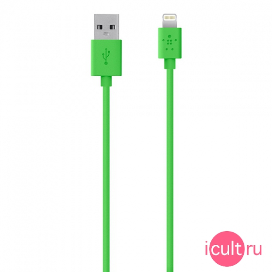 Кабель Belkin Lightning To USB ChargeSync Cable Green зеленый 1,2 метра F8J023bt04-GRN