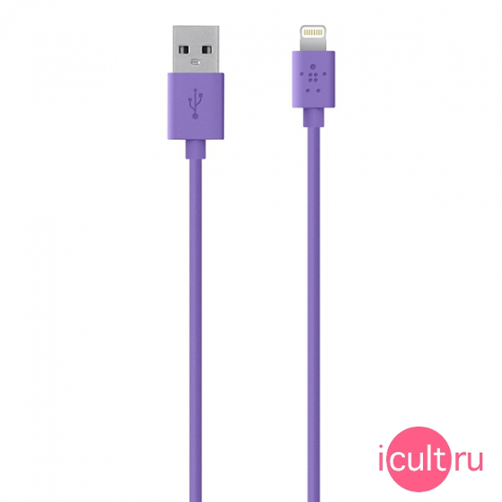 Кабель Belkin Lightning To USB ChargeSync Cable Purple фиолетовый 1,2 метра F8J023bt04-PUR
