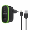 СЗУ Belkin Home Charger With Lightning Cable 2.1A/1USB Black черное F8J052vf04-BLK