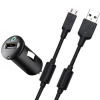 АЗУ Sony Compact Car Charger and Micro USB Data Cable 1A/1USB Black черное AN-401