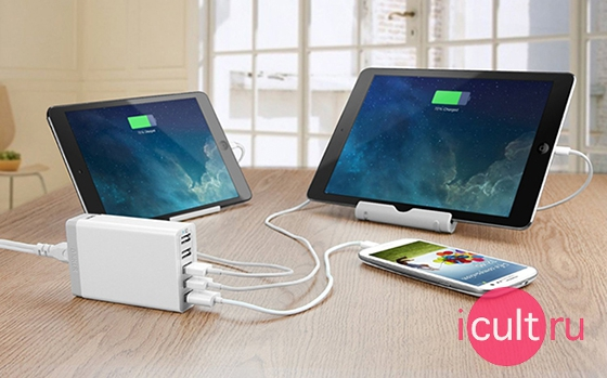Anker 40W 5-Port Family-Sized Desktop USB Charger White