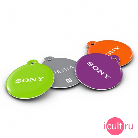 Комплект NFC меток Sony SmartTags Green/Grey/Purple/Orange для Android устройств NT2