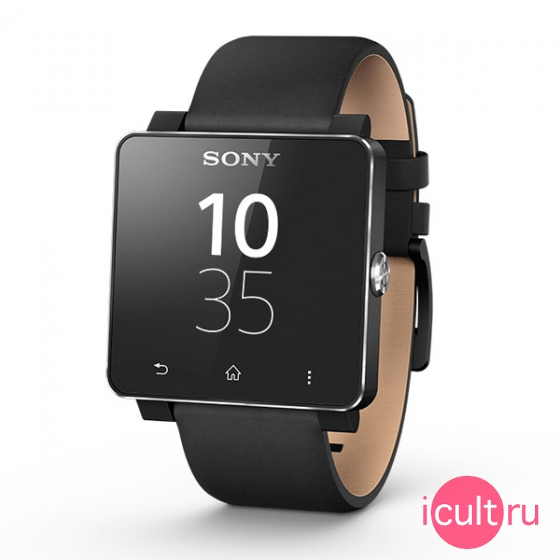Кожаный ремешок Sony Wrist Strap Leather Black для Sony SmartWatch 2 черный SE20