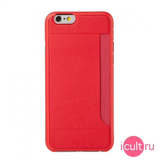 Чехол Ozaki O!coat 0.3 + Pocket Red для iPhone 6/6S красный OC559RD
