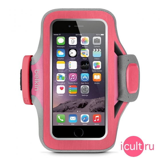Спортивный чехол на руку Belkin Slim-Fit Plus Armband Pink для iPhone 6/7/8 розовый F8W499btC01