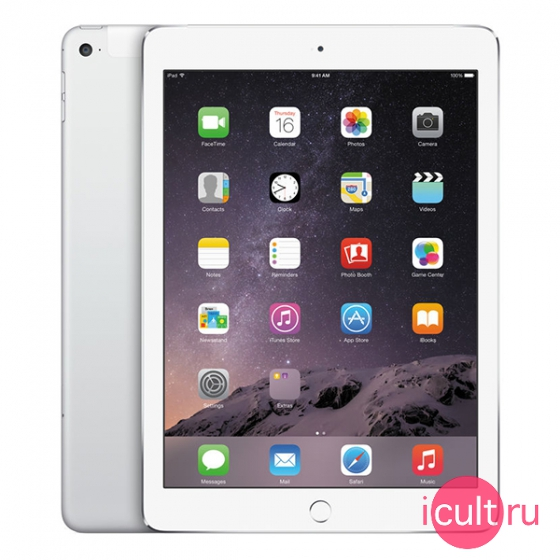 Планшетный компьютер Apple iPad Air 2 16GB Wi-Fi + Cellular (4G) Silver серебристый MH2V2