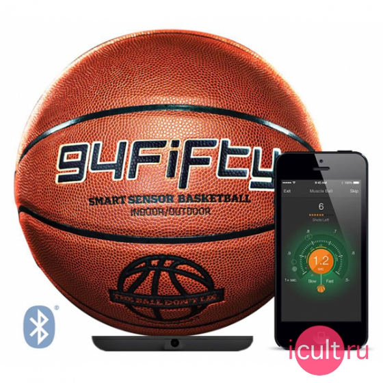 Умный мяч 94Fifty Women/Youth Size 6 Smart Sensor Basketball Orange оранжевый TBB6001P