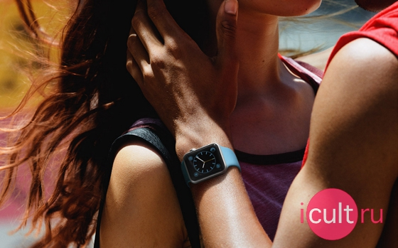 Apple Watch 38 мм Stainless Steel/Black Sport Band