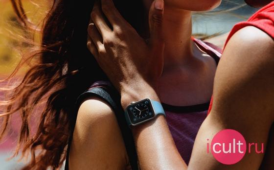 Apple Watch 42 мм Stainless Steel/Black Sport Band