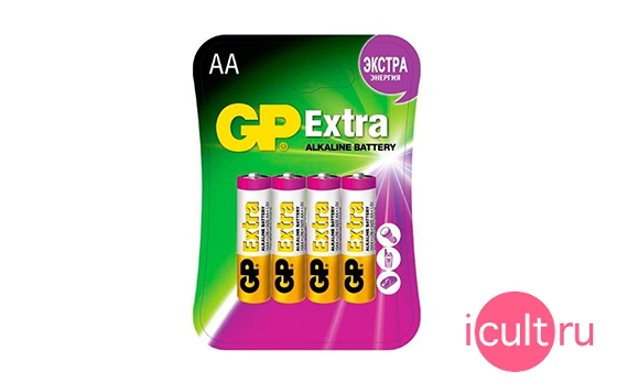 GP Extra AA Battery 4 Pack