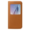 Чехол-книжка Samsung S View Cover Fabric Orange для Samsung Galaxy S6 оранжевый EF-CG920B