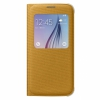 Чехол-книжка Samsung S View Cover Fabric Yellow для Samsung Galaxy S6 желтый EF-CG920B