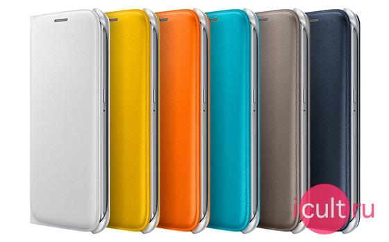 Samsung Flip Wallet Cover Orange