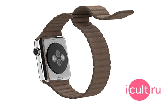 Apple Light Brown Leather Loop Medium