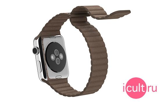 Apple Light Brown Leather Loop Large