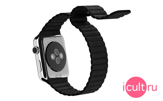 Apple Black Leather Loop Large