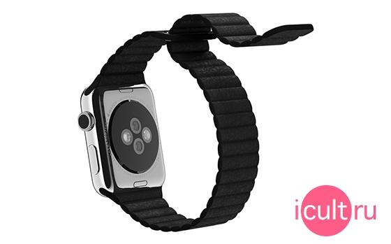 Apple Black Leather Loop Large