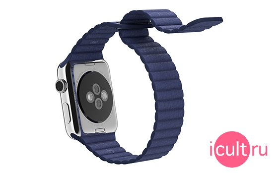 Apple Bright Blue Leather Loop Large