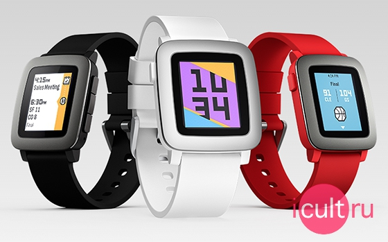 Pebble Time Red