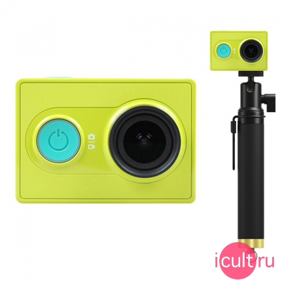 Экшн камера Xiaomi Yi Action Camera Travel Edition Sport Jungle зеленая/желтая