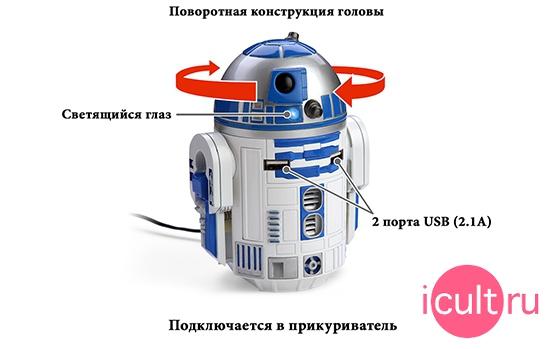 ThinkGeek Star Wars R2-D2 USB Car Charger