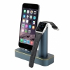 Док-станция COTEetCI Charging Cradle Navy Blue для iPhone/Apple Watch синяя CS2045-BKG