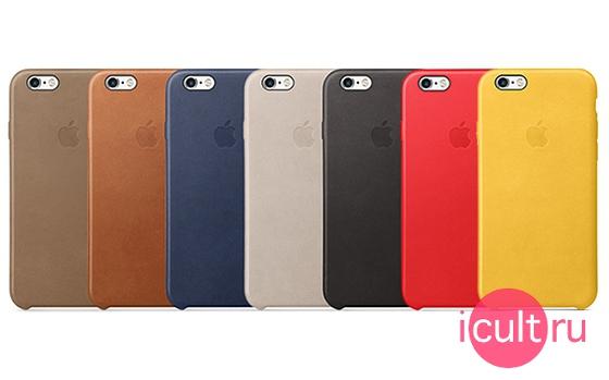 Apple Leather Case Black