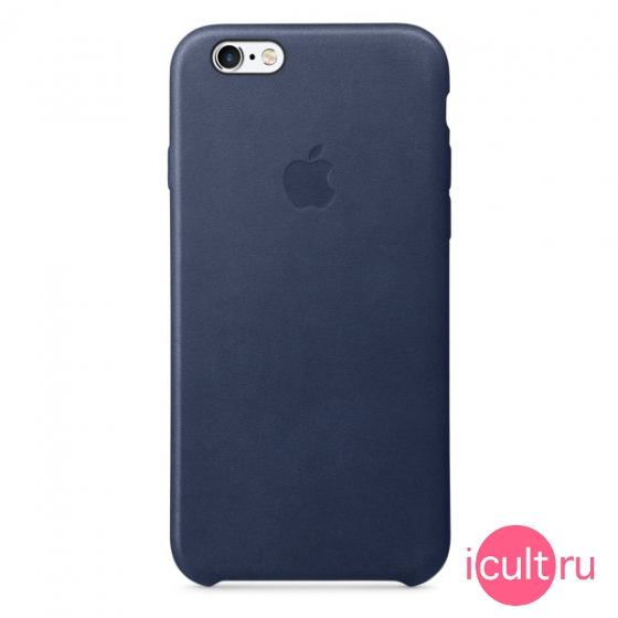 Кожаный чехол Apple Leather Case Midnight Blue для iPhone 6/6S синий MKXU2ZM/A