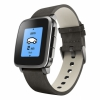 Смарт-часы Pebble Time Steel Leather Band Black черные