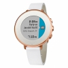 Смарт-часы Pebble Time Round 14mm Leather Band Rose Gold/White золотые/белые