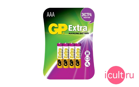 GP Extra AAA Battery 4 Pack