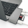 USB-C хаб Satechi USB Hub 2USB/1USB-C Space Gray темно-серый ST-TCUPM