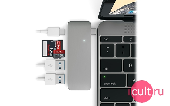 Satechi USB Hub USB-C Space Gray