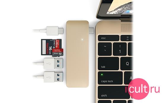 Satechi USB Hub USB-C Gold
