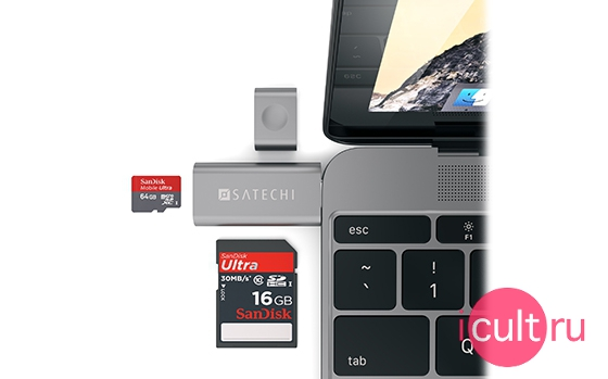 Satechi CARD Reader Space Gray
