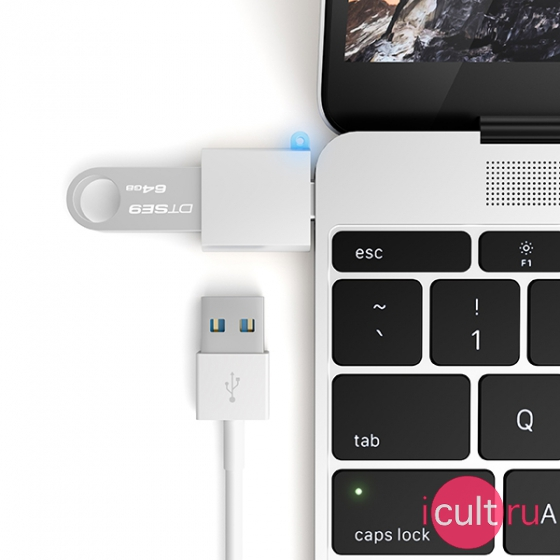 USB-адаптер Satechi USB 3.0 to USB-C Adapter Silver серебристый ST-TCUAS