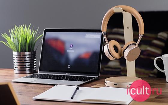 Satechi Aluminum 3USB 3.0 Headphone Stand Gold