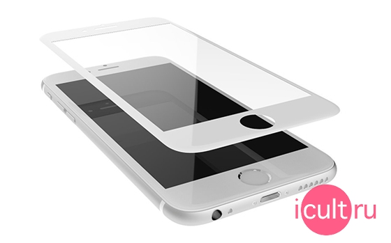 iCult 3D Hyper Glass iPhone 6/6S Plus White