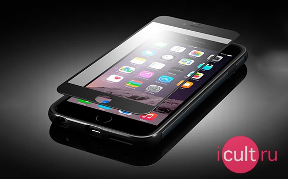 iCult 3D Glass iPhone 6/6S Black