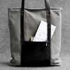 Экологичная сумка Handwers Tote Bag HOLM Black/Gray серая/черная