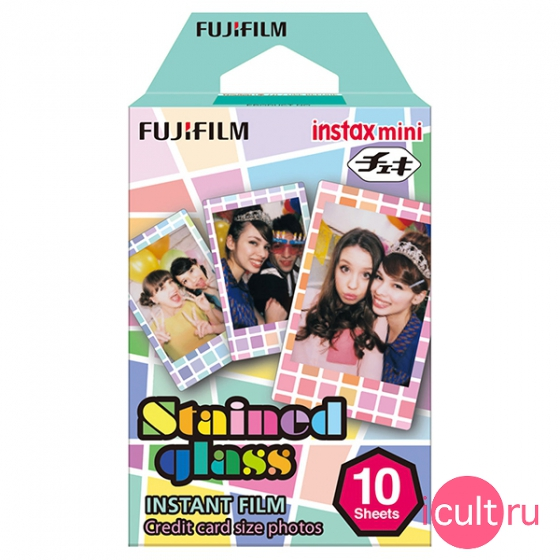Фотобумага FujiFilm Colorfilm Stained Glass 10 шт. для фотокамер Fujifilm Instax mini/Polaroid 300 Instant