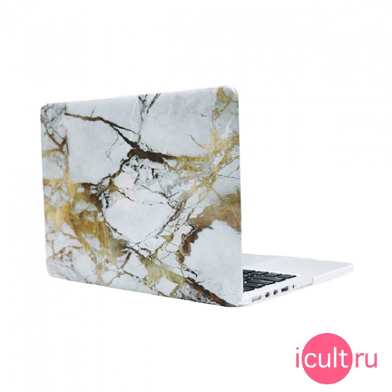 "Чехол i-Blason Case White/Gold Marble для MacBook Air 13"" белый/золотой"