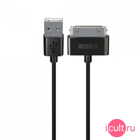 Кабель InterStep 30-pin to USB Cable 2 метра Black черный IS-DC-IPHONE2KA-000B201