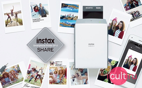 Fujifilm Instax Share SP-2 Printer Gold