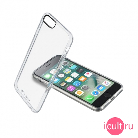 Чехол Cellular Line Clear Duo для iPhone 7/8 прозрачный CLEARDUOIPH747T