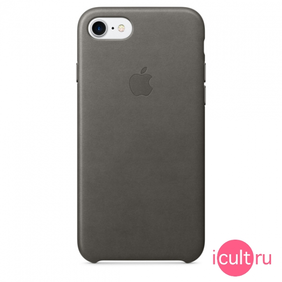 Кожаный чехол Apple Leather Case Storm Gray для iPhone 7/8 серый MMY12ZM/A
