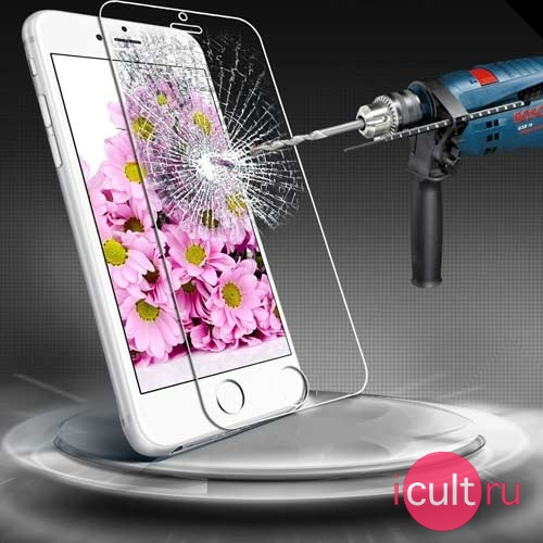 Защитное стекло iCult Ultra Protection Crystal Glass 0,33mm для iPhone 7/8 Plus глянец