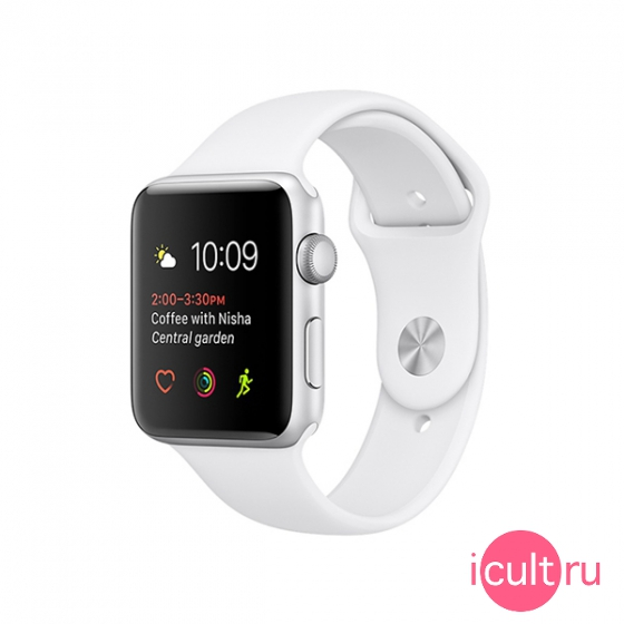 Смарт-часы Apple Watch Series 1 Sport 38 мм Silver/White серебристые/белые MNNG2